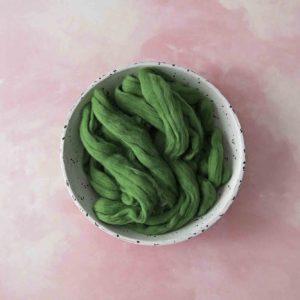 100% Merino Soft Green Roving Wool
