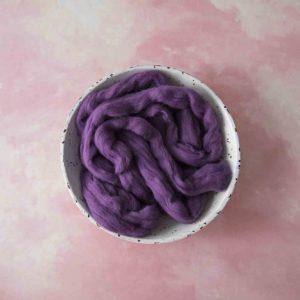 100% Merino Soft Purple Plum Roving Wool