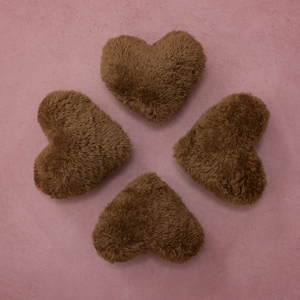 The Perfect Posie® Heart-Shaped Cushion Cuddlies – Brown