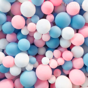 Blue Pink Baloon Wall