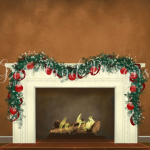 Christmas Fire – Brown – Not Decorated