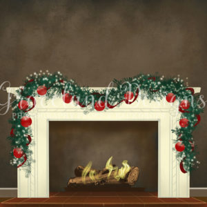 Christmas Fire – Grey – Not Decorated