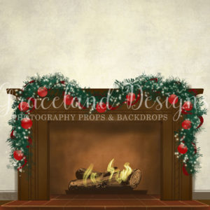 Christmas Fire – White – Not Decorated